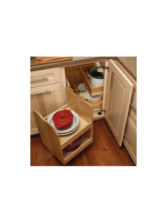 Base Blind Corner with Swing-out - Make full use of the hard-to-reach corner with this great place for heavy dishes or pots and pans.