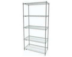 Metro Shelving Unit - 36x18x74 White industrial-garage-and-tool-storage
