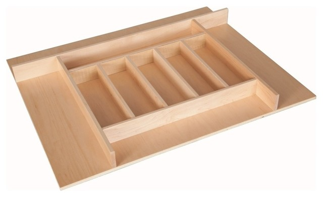 "Century Components TTKF14PF Wood Silverware Tray Drawer Organizer, 26-3/4"" X 22"" - Contemporary ..."