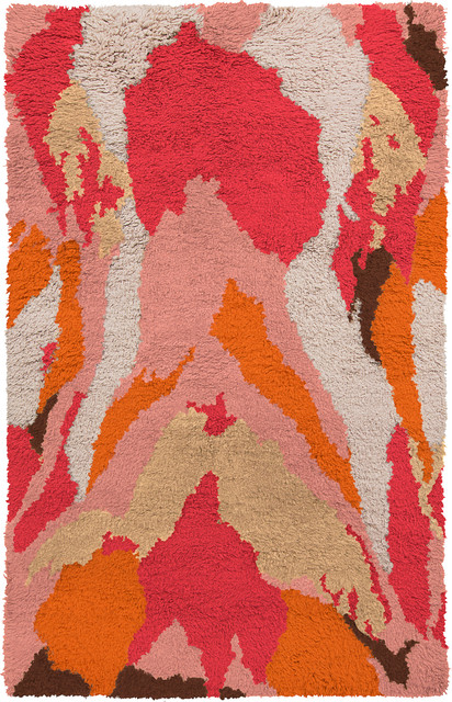 Surya Liona LIO-9001 Pastel Pink, Hot Pink 2'x3' Rug contemporary-area-rugs