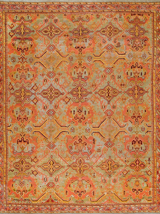 Antique Turkish Oushak Carpets - #18842