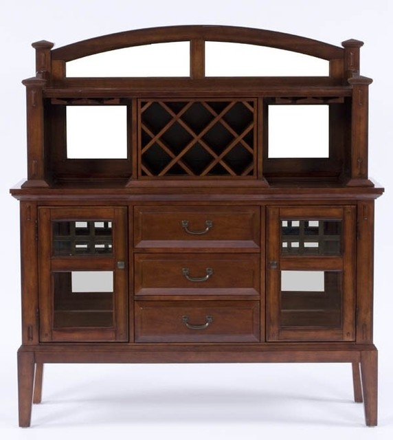 Broyhill Furniture - Vantana Server with Hutch in Red-Brown Finish - 4985-513-51 - Traditional ...