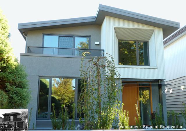 Vancouver Special Renovation modern-exterior