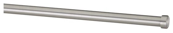 "Warner Nickel 36""54"" Tension Rod contemporary-curtain-rods"