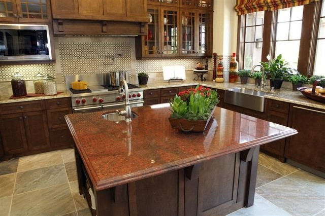 accenting your kitchen with a different color island