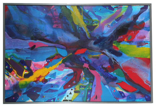 1967 Original Vibrant Oil Abstract contemporary-originals-and-limited-editions