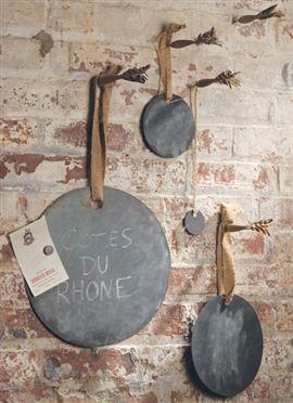Zinc Circles with Jute Ribbon traditional-home-decor