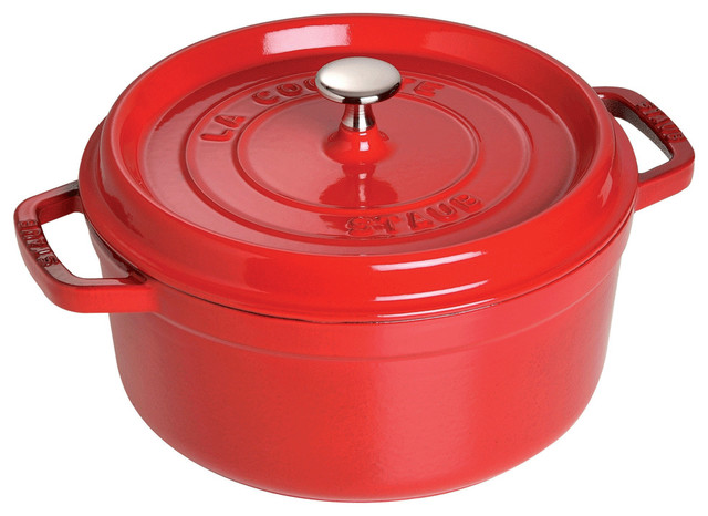 Staub Round Cocotte, 2.75 Qt., Cherry traditional-dutch-ovens-and-casseroles