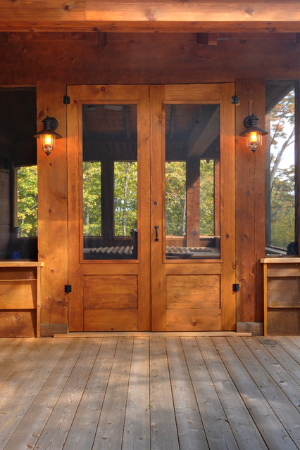 Muskoka Log Home Rustic Outdoor Lighting Toronto