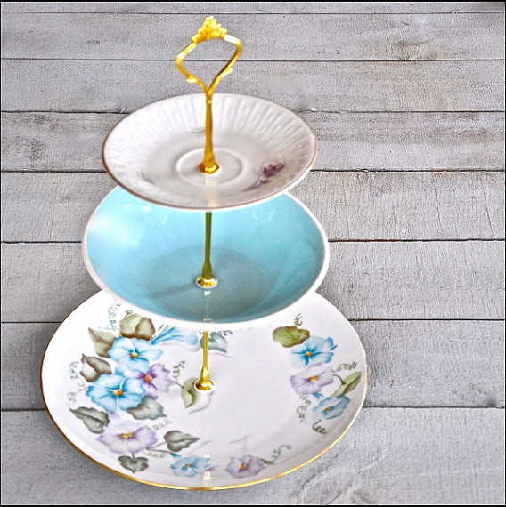 Nicola Vintage Floral Tiered Cupcake Stand By Fresh Pastry Stand traditional-serveware
