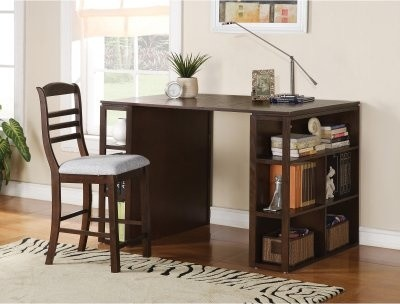 Steve Silver Bradford Writing Desk with Optional Chair - Dark Oak modern-desks-and-hutches