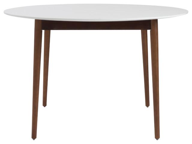 Manon Round Dining Table WhiteDark Walnut  : contemporary dining tables from www.houzz.com size 640 x 478 jpeg 25kB