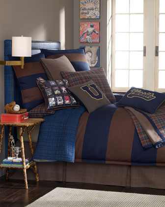Legacy Home Collegiate Bed Linens European Small-Plaid Sham traditional-pillowcases-and-shams