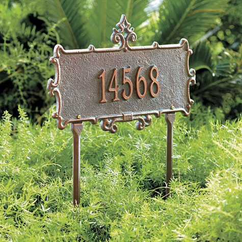 Park Lane Lawn Address Sign traditional-house-numbers