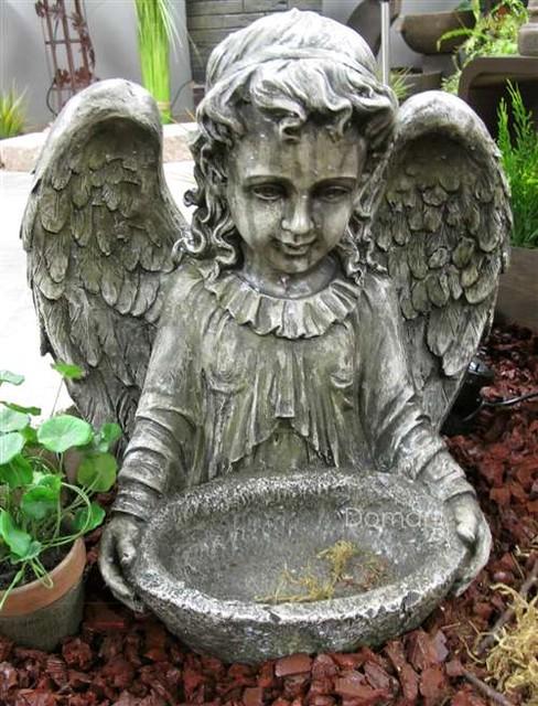 17 Quot Garden Angel Bird Bath Traditional Garden Statues