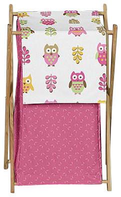 Happy Owl Laundry Hamper by Sweet Jojo Designs contemporary-hampers