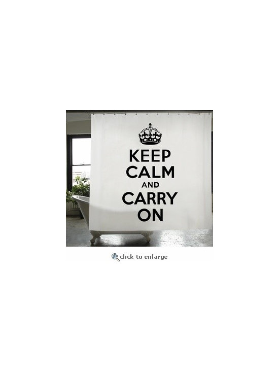 Keep Calm and Carry On Shower Curtain -