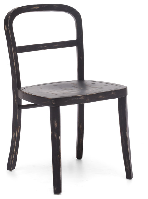 Fillmore Chair Antique Black (set of 2) rustic-dining-chairs