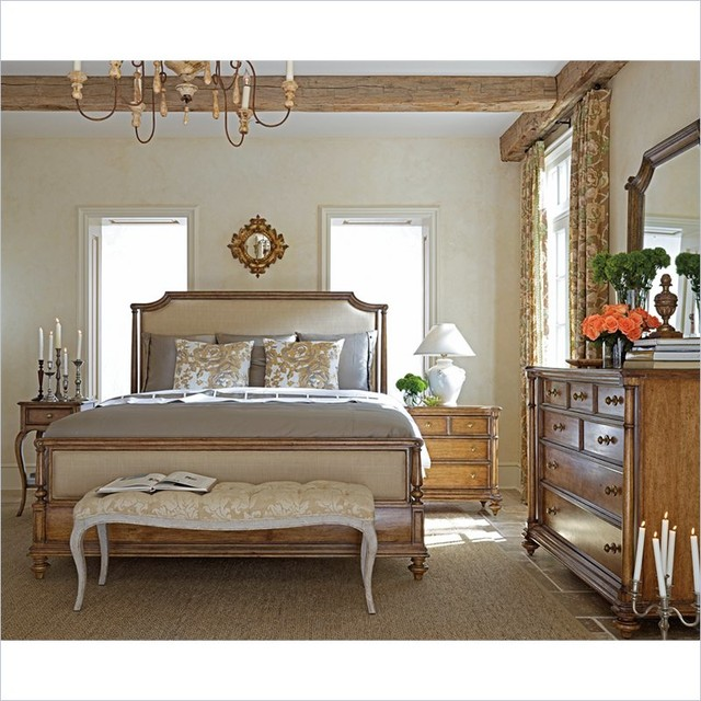 Stanley Furniture Arrondissement Palais Upholstered Bed 6 Piece Bedroom Set in S traditional-beds