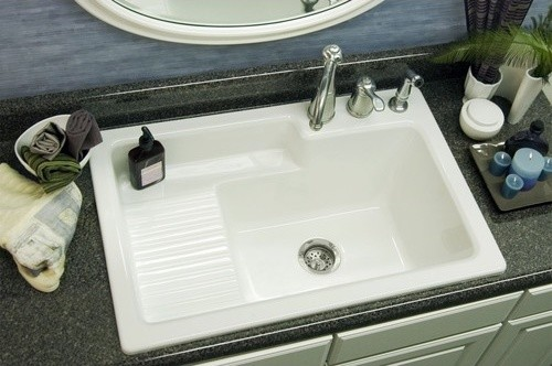 Advantage Hamilton Self Rimming Laundry Sink - Modern - Bathroom Sinks - by Fixture Universe