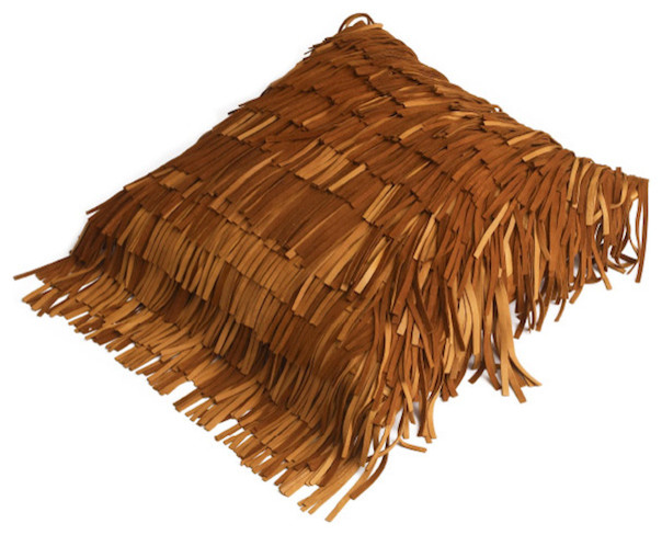 Suede Fringe Pillow eclectic pillows