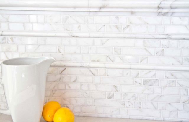 Classico Marble Mosaic traditional-tile