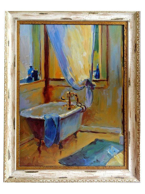 Abstract Clawfoot Bathtub Painting - $2,200 Est. Retail - $750 on Chairish.com -