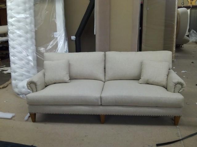 Roll Arm Sofa w/ Nail Heads traditional-sofas