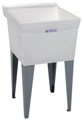 Utilatub 24 in. x 20 in. Structural Thermoplastic Floor-Mount Utility Tub in Whi contemporary-kitchen-sinks