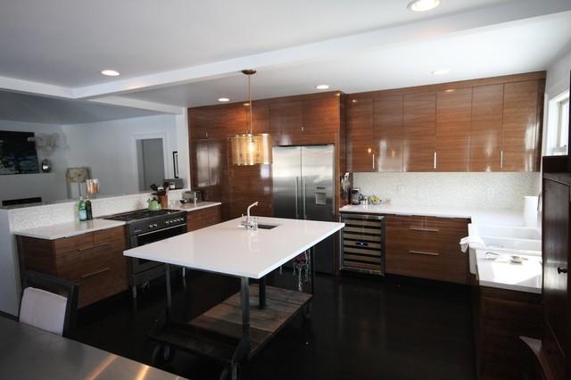 modern walnut kitchen - Modern - Kitchen - nashville - by fritsch ...
