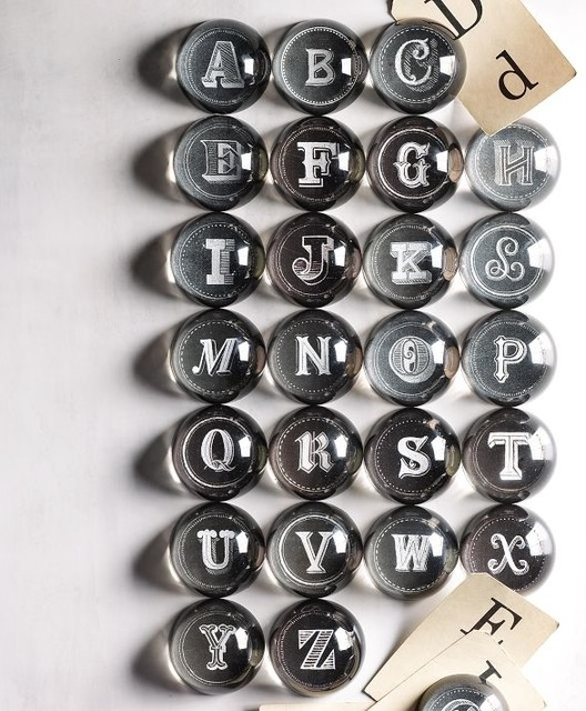 Alphabet Letter Paperweights traditional-desk-accessories