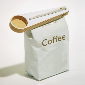 Kapu Coffee Scoop and Bag Closer contemporary food containers and storage