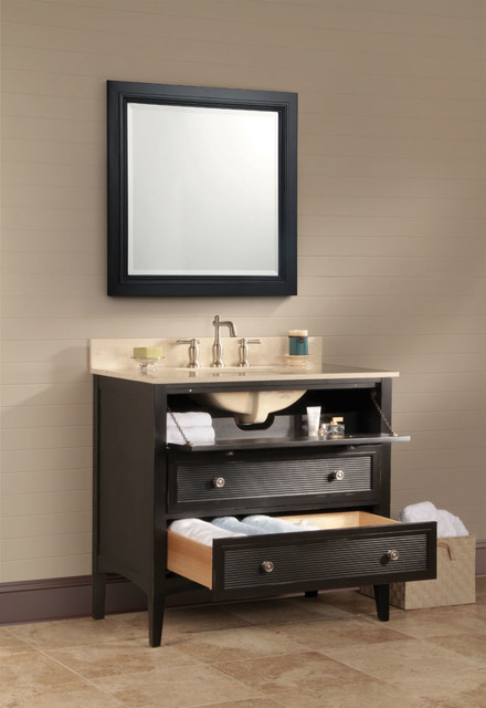 ... Vanity Units & Sink Cabinets - new york - by Burroughs Hardwoods Inc