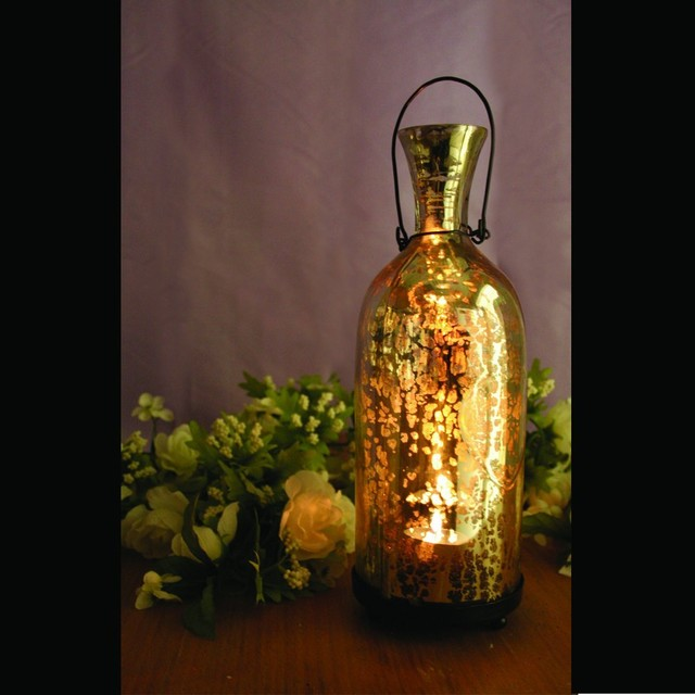 Champagne Glass Bottle Votive contemporary-candleholders