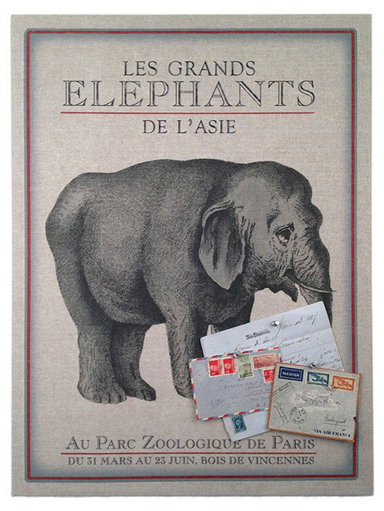 Floating Circus Zoo Elephant Pin Board