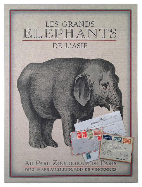 Floating Circus Zoo Elephant Pin Board Contemporary