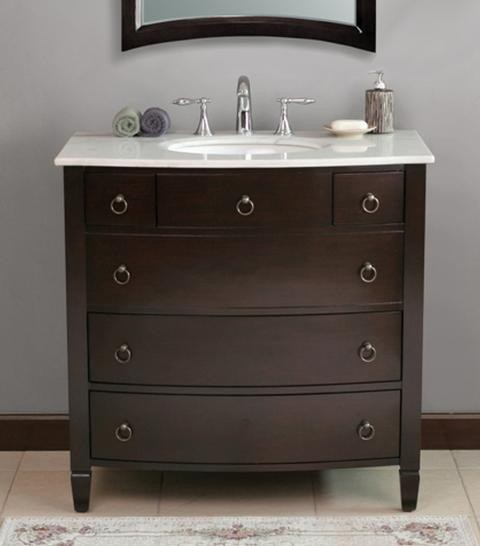 Black Single Sink Bathroom Vanities - black bath vanities ...