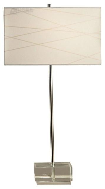 Nova Lighting Criss Cross Transitional Table Lamp X-35111 transitional-table-lamps