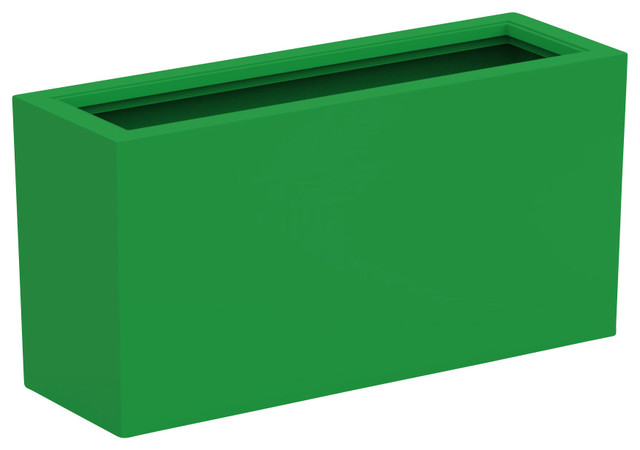 Large Aberdeen Planter Deep Lime Green Modern Outdoor
