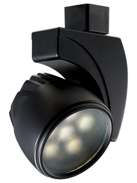 "WAC - WAC Reflex 20 Degree Black 27W LED Track Head for Juno - Reflex track head for use with Juno track systems. Black finish. 20 degree beam spread. Includes 27 watt LED. Light output is 1890 lumens. 2700K color temperature. CRI is 85. Average bulb life is 50000 hours when used 3 hours a day. Not dimmable. ENERGY STAR® rated. Low voltage. 6 1/4"" high. 5 1/4"" wide.  Reflex track head for use with Juno track systems.  Black finish.  20 degree beam spread.  Includes 27 watt LED.  Light output is 1890 lumens.  2700K color temperature.  CRI is 85.  Average bulb life is 50000 hours when used 3 hours a day.  Not dimmable.  ENERGY STAR® rated.  Low voltage.  6 1/4"" high.  5 1/4"" wide."