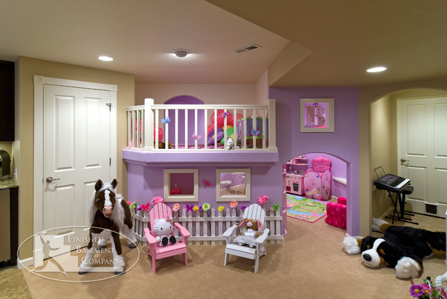 Basement Kids Play Area - traditional - basement - denver - by