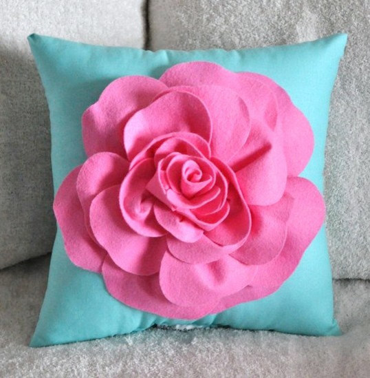 Decorative Pillows Flowers : Flower Pillow - Contemporary - Decorative Pillows - other metro - by Luulla