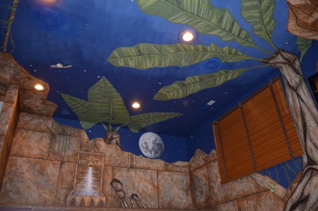 Jungle Mural Playroom - Tropical - minneapolis - by Walls Of Art LLC ...