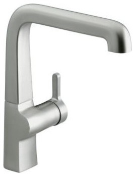 KOHLER K-6333-VS Evoke Single Control Kitchen Sink Faucet in Stainless Steel contemporary kitchen faucets