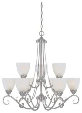 Designers Fountain 98089 Stratton 9 Light Chandelier modern-chandeliers