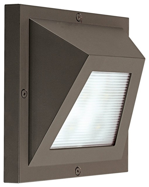 "Edge LED Bronze 6"" High ADA Outdoor Wall Light contemporary outdoor lighting"