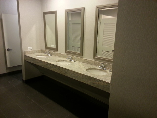 Westchase Building Restrooms modern-bathroom-countertops
