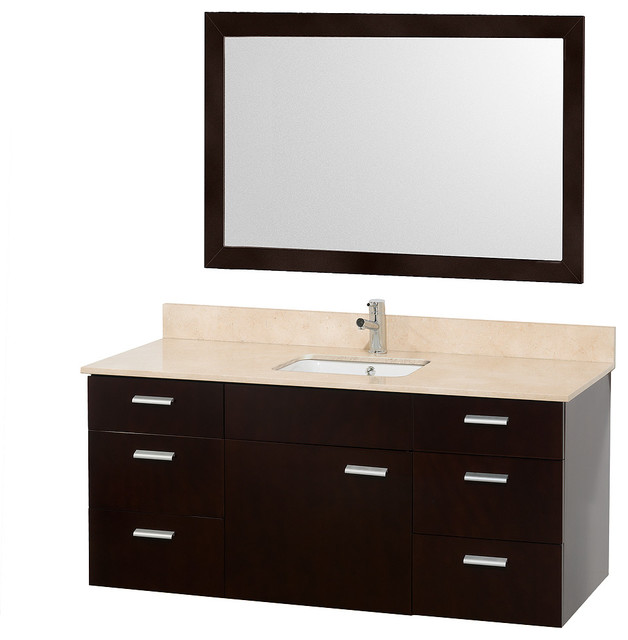 Square Sink Vanity : ... White Porcelain Square Sink modern-bathroom-vanities-and-sink-consoles