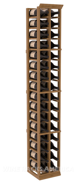 2 Column Large Bottle Rack in Mahogany with Oak Stain + Satin Finish traditional-wine-racks
