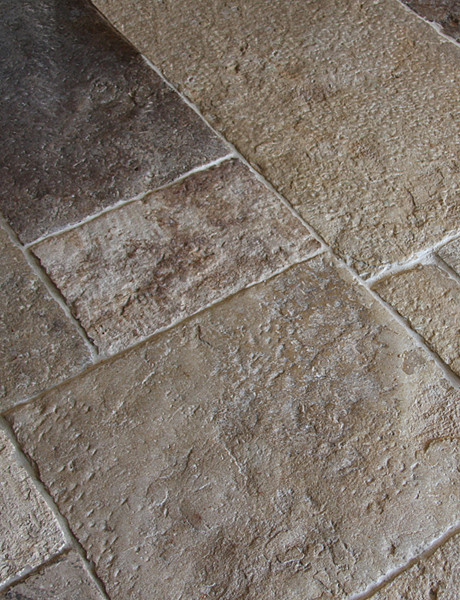 Antique Dalle de Bourgogne Stone Floor Tiles traditional-wall-and-floor-tile